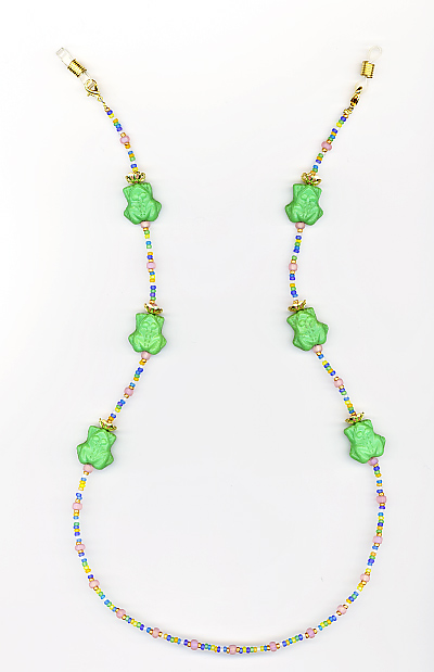 Frogs Beaded Eyeglass Chain