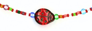 Lady Bug II Eyeglass Chain Detail