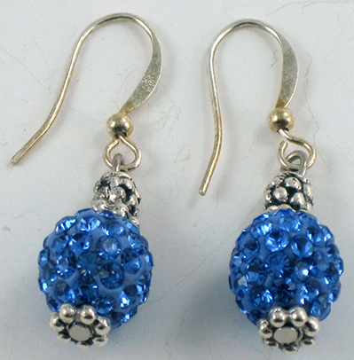 Blue Cristal Earrings