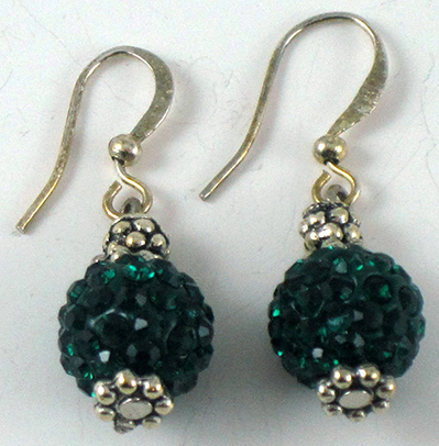 Green Cristal Earrings
