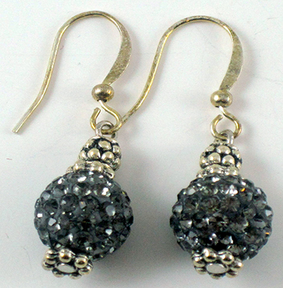 Grey Cristal Earrings