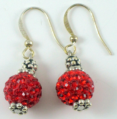 Red Cristal Earrings