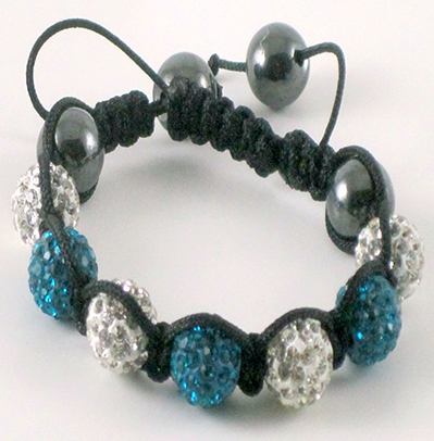 Blue White Shamballa